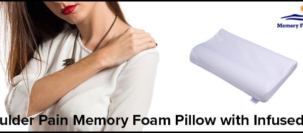 Shoulder Pain Memory Foam Pillow with Infused Gel